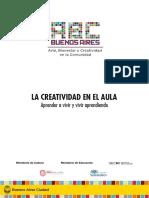 Cuadernillo La Creatividad en El Aula - En Baja