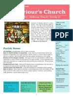st saviours newsletter - 27 august 2017