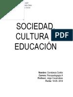 Sociedad, Cultura y Educacion
