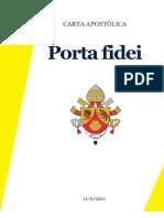 Bento XVI Porta Fidei a Porta Da Fe