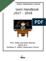 b-1 classroom handbook