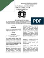 N°4 GACETA MUNICIPAL EXTRAORDINARIA.(Ordenanza FERISOL)