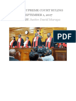 Kenya Supreme Court Elections Ruling 2017