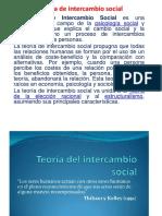 Teoría de Intercambio Social