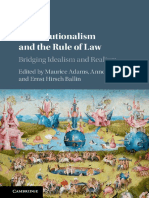 Maurice Adams, Anne Meuwese, Ernst Hirsch Ballin Constitutionalism and the Rule of Law Bridging Idealism and Realism