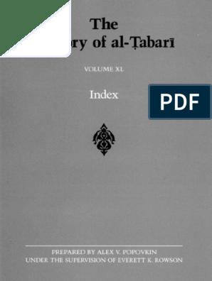 The History of al-Tabari: Index