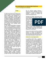 Fundamentos e Historia de La Psicología Positiva