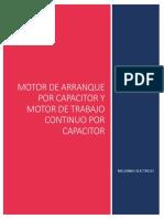 Motor de Arranque Por Capacitor y Trabajo Continuo