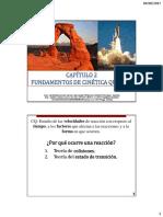 2 Fundamentos de Cinética Química (2017-2)