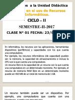 CLASE N°  01 recursos informaticos