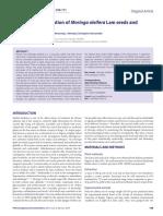 Toxicological Evaluation of Moringa Oleifera - Golden Leash Pet Products