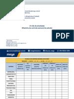 17 - Planinha de Controle Semanal de Estudo.