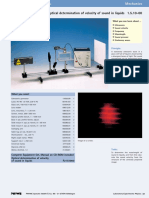 optical Determination of Velocity of Sound in Liquids