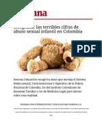 Abuso Sexual en Colombia 2012-2016