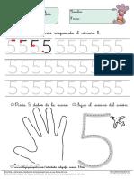 Actividades Caligrafia Numero 5