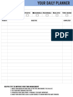 Individual Daily Planner