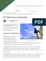 El Poder De La Voluntad _ Desarrollo Personal.pdf