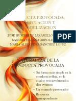 Conducta Provocada, Habituacion y Sensibilizacion (1)