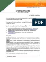 Actividad gastroprotectora y toxicidad aguda del extracto de hojas de Cnidoscolus Chayamansa Mc Vaugh
