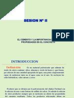 SESION II El Cemento y La Importancia de Sus Propiedades