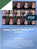 Los 11 Patronesfuncionales  de Marjory Gordon
