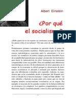 Einstein - Por Que El Socialismo