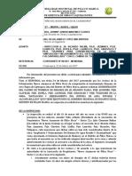 Informe Nº 045 - 2017 – Mdpm Sgoyl Hjlm - Consideracion a La Obra a La Obra de Agua y Alcantarillado de La Urbanizacion Nuevo Amanecer