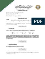 Resumen-De-Clase - Metodo de Romberg