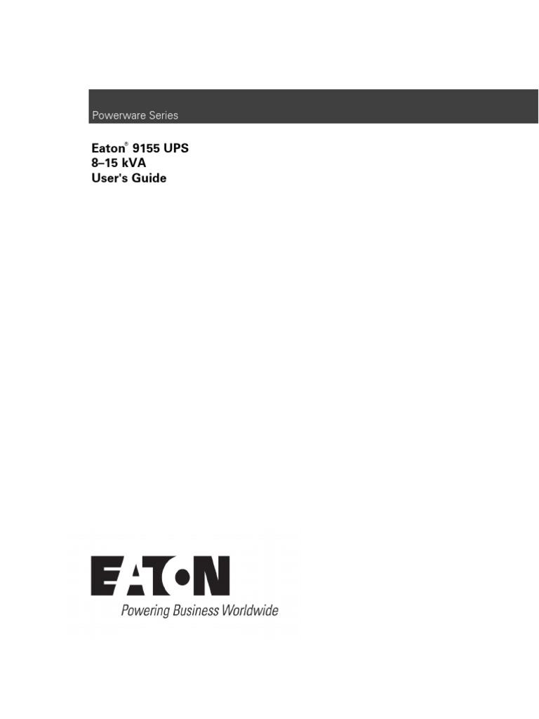 Eaton_9155-8-15-kVA_UPS (1) | Electrical Wiring ...