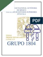 Temario Desarollado Primer Departamental FESI Clínica IV