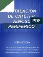 cateter venoso periferico