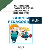 CARPETA PEDAGOGICA 4° 2017