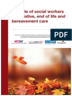 The role of social workers in palliative, end of life and bereavement care