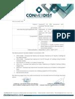 Certificado Poliuretano DOW - 13 Mayo 2017