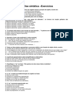 PORTUGUÊS - Análise sintática exercício.pdf