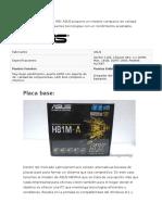 Unto Al Chipset Intel H81 ASUS Propone Un Modelo Compacto de Calidad Manteniendo Interesantes Tecnologías Con