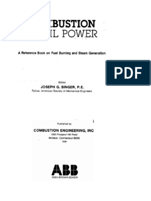 Combustion_Fossil_Power pdf   Boiler   Thermodynamics