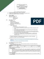 Semi Detailed Lesson Plan in Aquatics