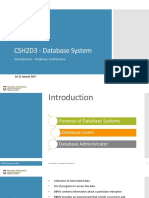 01 Introduction - Database Architecture