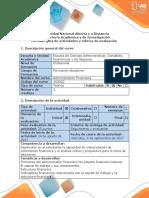 Guía de Actividades PASO 1 ADMINISTRACION FINANCIERA