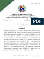 Propuesta Resolucion Tabulador Campamento Turismo 31072014 Mintur