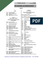 A - Resumen de Codigos de Las Normas RNE