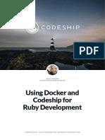 Codeship Using Docker and Codeship for Ruby Development