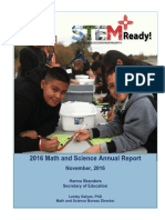 2016 math and science annual report final