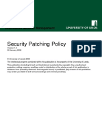 Security Patching Policy