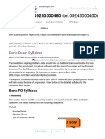 Complete Bank Exam Syllabus_ Prepare for PO, Clerk & SO Exam