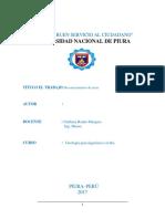 Informe Reconocimiento de Rocas
