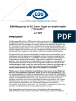 EBU Response Green Paper on MHealth Final