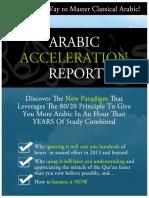 Arabic Acceleration Report