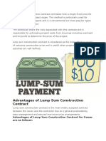 In Lump Sum Construction Contract Contractor